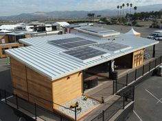 PV arrays for California State University, Sacramento, at the U.S. Department of Energy Solar Decathlon 2015 at the Orange County Great Park, Irvine, California  (Credit: Thomas Kelsey/U.S. Department of Energy Solar Decathlon)