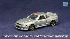 TOMICA 085C NISSAN SKYLINE GTR R33 #WHEELSWAP #LOWDOWN | v.18 | FIN GOLD Nissan Skyline Gtr R33, Old Models, Diecast, Auction, Silver, Tomy, Money