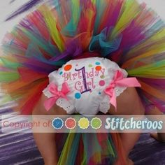 First birthday diaper cover and tutu from AdrienneN on Etsy. by concetta
