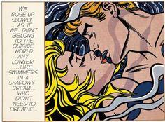 We rose up slowly - Roy Lichtenstein - - Pop Art, 1964 Arte Pop, Frankfurt, Pop Art Roy Lichtenstein, Kandinsky Art, Art Mur, Art Gallery, Romantic Paintings, Art En Ligne, Oil Painting Reproductions
