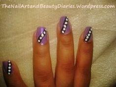 Simple Dot over Stripe Nail Art