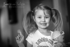 Young Girl with Pigtails and Doll | black and white | rootsandtwigs.com Roots and Twigs | Lifestyle and Fine Art Photography in Fort Collins, Colorado and the Front Range