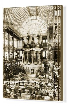 Image 11 of 14 from gallery of AD Classics: The Crystal Palace / Joseph Paxton. The Crystal Palace at Sydenham Hill, Photo by Philip Henry Delamotte © Wikimedia Commons Crystal Palace, Palace Interior, Palace London, Victorian London, Vintage London, Egyptian Pharaohs, Iron Work, Architectural Antiques, Expositions