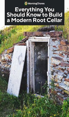 To store your abundant harvests you should install a modern root cellar. We share the principles which make a root cellar work for you to easily create one. Homestead Farm, Homestead Survival, Root Cellar Plans, Veg Garden, Garden Pests, Fruit Garden, Vegetable Gardening, Container Gardening, Cellar Design