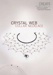 crystal web necklace