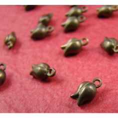 Antique Raw Brass Rose Bead on framestr.com Brooches, Charms, Stud Earrings, Pendants, Beads, Antiques, Rose, Beading, Earrings
