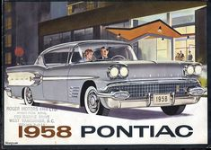 vintage everyday: Vintage Car Advertising Posters in US from Pontiac Bonneville, Vintage Advertisements, Vintage Ads, Retro Ads, Vintage Signs, Vancouver, Pontiac Cars, Automobile, Car Posters
