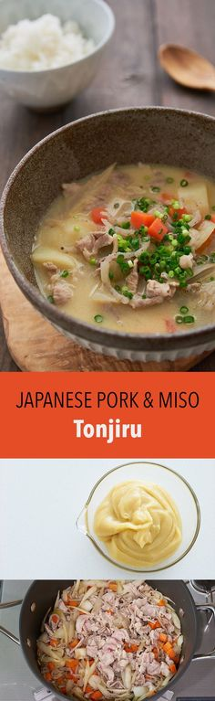 A quick, delicious Japanese pork and miso soup, Tonjiru comes together in under 30 minutes and is hearty enough to serve as an entree.