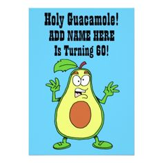 Holy Guacamole Someone Is Turning 60 Avocado Card - birthday invitations diy customize personalize card party gift
