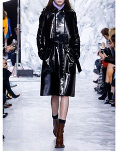 Carven Patent Trench Coat