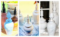 Beautiful finials made with old lamps- #gettingcreativeathome