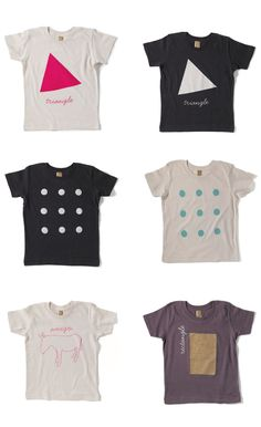 fabulous kiddie tees from Two New York, via simplesong.typepad.com