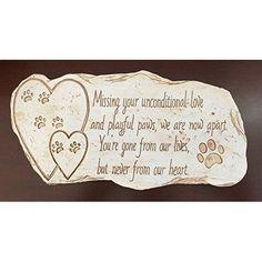 Pet Memorial Stone For Dog Cat Grave Headstone Animal Memorials Stones Outdoor #PetMemorialStoneForDogCat