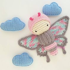 Ulysses butterfly made by todaybydayanecarneiro / #crochet pattern by #lalylala