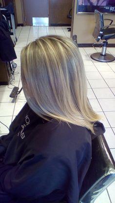 Blonde highlights by Jill