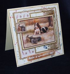 Joanna Sheen project - I have to admit my bias with spaniel puppies! Spaniel Puppies, Card Making Inspiration, Cardmaking, Birthday Cards, Scrapbooking, My Love, Projects, Bday Cards, Log Projects
