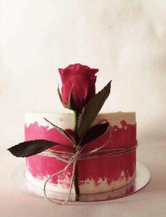 New Cake Desing Baby Flower Ideas Pretty Cakes, Beautiful Cakes, Amazing Cakes, Cake Decorating Techniques, Cake Decorating Tips, Rodjendanske Torte, Valentine Cake, New Cake, Cake Designs