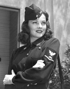 Gene Tierney. Beautiful woman and I like the uniform too