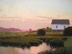 """Dawn in Ocean Isle"" by Jackie Jouvenal (marine art)"