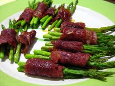 Baby Asparagus Wrapped with Beef Bacon