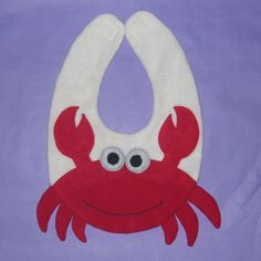 Crab Bib  Infant Baby Bib by DinkyDimples on Etsy, $20.00