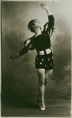 Vaslav Nijinski. Known as one of the best ballet dancers ever, unfortunately there is no clear footage of him............ shame.