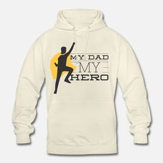 Vater Unisex Hoodie My Dad My Hero, Unisex, Hoodies, Sweaters, Fashion, Dad Daughter, Father And Son, Funny T Shirts, Father's Day