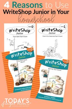 Are you looking for a multi-sensory approach to teaching your 3-6th grader how to write? If so, check out my review of WriteShop Junior. This no-nonsense homeschool writing curriculum is a must-have for your homeschool! | todaysfrugalmom.com