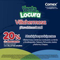 #Villahermosa este 16 y 17 de octubre no te pierdas la gran #VentaDeLocura2015. Checa tiendas participantes.
