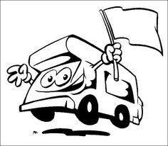 14 meilleures images du tableau coloriages camping car pour enfant coloring pages - Camping car a colorier ...