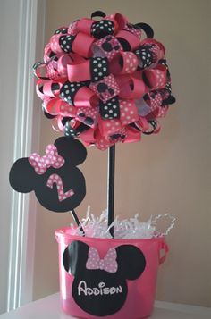 Photo 10 of 16: Mickey Mouse Clubhouse or Minnie Mouse / Birthday Addisons Minnie Mouse Party | Catch My Party - Click image to find more holidays & events Pinterest pins