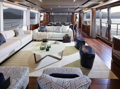 The sophisticated and elegant interior of the Princess superyacht by the Princess Design Studio Yacht Interior, Studio Interior, Interior Design, Princess Yachts, Used Boats, Super Yachts, Luxury Yachts, Models, Girls
