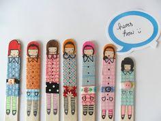 Muñecas en palitos de paletas
