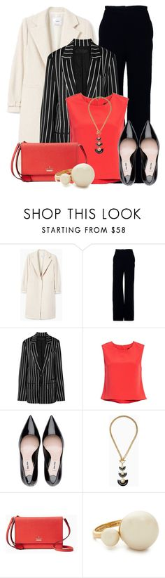"""""""Office Wear"""" by lechara ❤ liked on Polyvore featuring MANGO, Brandon Maxwell, Haider Ackermann and Kate Spade"""
