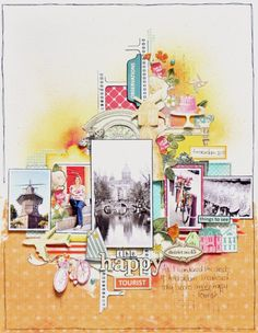 Creating a layered look scrapbook page. Photo tutorial by Emma Trout for PaperCrafter's Corner.