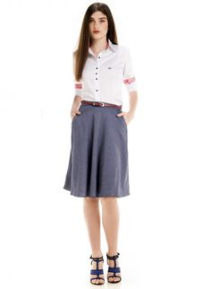 camisa social principessa branca feminina principessa nalva look completo