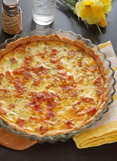 Quiche Lorraine - This classic recipe is so quick Just pop it in the oven for a tasty lunch or dinner.