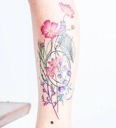 """Florecer"" para Agus #kizun #tattoo #ink #argentina #design #art #flowers #leaves #naturetattoo #love #spring #flowertattoo #bunchofflowers #girltattoo #changes #rebirth #blooming"