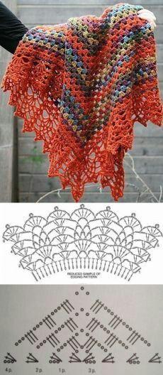 101 Fantastiche Immagini Su Scialli Nel 2019 Crochet Patterns