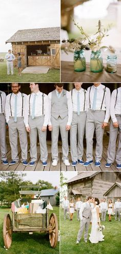 I love the colored shoes with white for the groom.