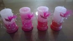 15 Velas Cilindricas Decoradas- Ceremonia De Velas 15 Años - $ 853,00 en Mercado Libre