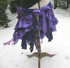 Steampunk bustle. Goth tribal belly dance purple by peacockandrose, £41.00