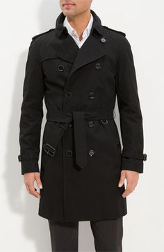 MUST HAVE this Burberry Black Trench Coat!