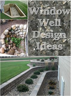 Window Well Design Ideas - want to do this brick step planter, but perpendicular to our exposed basement. Our hill would just turn this into a waterfall right into the windows.