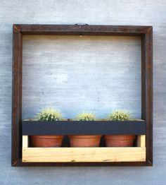 Solar-Lit Wall Planter Frame – Medium   Home Garden & Patio
