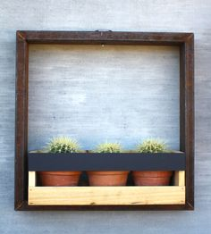 Solar-Lit Wall Planter Frame – Medium | Home Garden & Patio