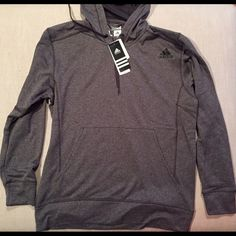 Adidas Fleece Pullover Hoodie Adidas Fleece Hoodie Mens Gray. Lightweight pullover, warm and comfortable. Adidas Tops Sweatshirts & Hoodies