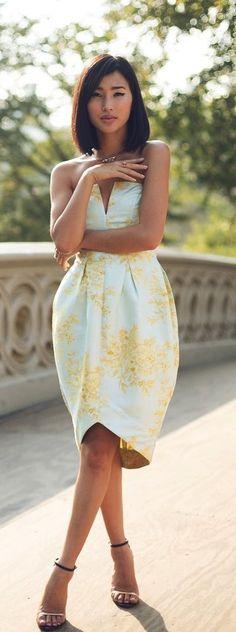 #summer #yellow #dress