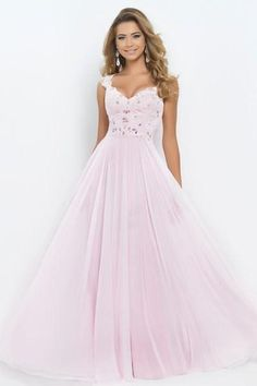 2014 Light Pink Blush 9986 Prom Dresses V Neck Cap Sleeve Sheer Backless Crystal Lace a Line Pageant Evening Gowns Chiffon Floor Length, $112.21 | DHgate.com