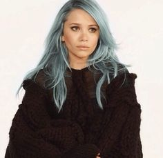 things I'm in love/obsessed with: this pastel, stormy sky, blue hair
